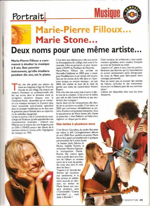 Article dans le journal Compact News - 2006