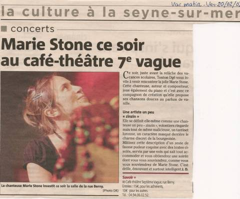 Article Var matin - 2009